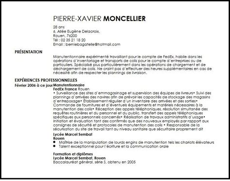 Lettre De Motivation De Quai Manutentionnaire Cv Fedex Material Handler Exemple Cv Fedex Material Handler Livecareer