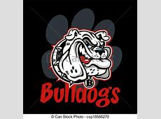 Vector - smirking bulldog mascot - stock illustration ... Georgia Bulldog Clipart Logo