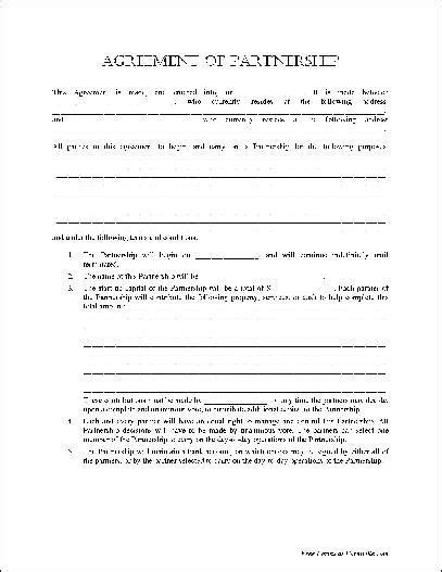 Free Basic Partnership Agreement From Formville Contract Forms Free Real State Pinterest Partnership Interest Purchase Agreement Template