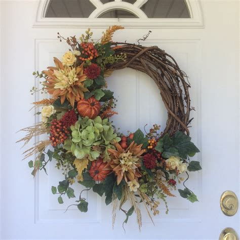 fall wreath fall decor pumpkin wreath rustic wreath autumn