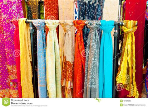 bright coloured scarves royalty free stock images image