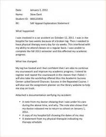 Appeal Letter College Financial Aid Exle Of Financial Aid Appeal Letter Sap Letter Jpeg