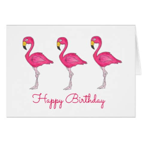 pink flamingos happy birthday gifts on zazzle