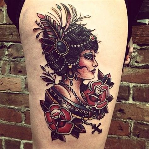 tattoo old school gypsy 51 best images about old school neo traditional tattoos
