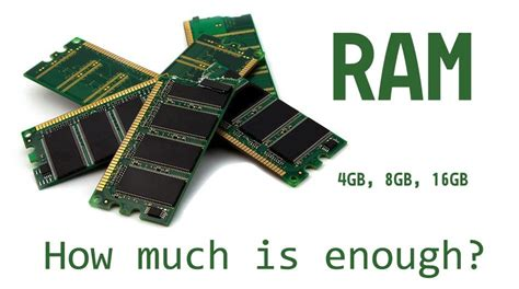 4gb 8gb or 16gb how much ram do you need