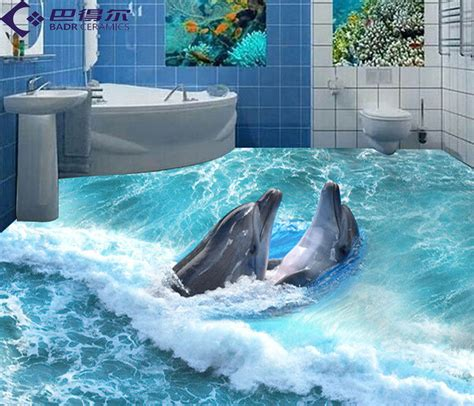 dolphin themed bathroom badr 3d brick tile bathroom floor tile hallway living room