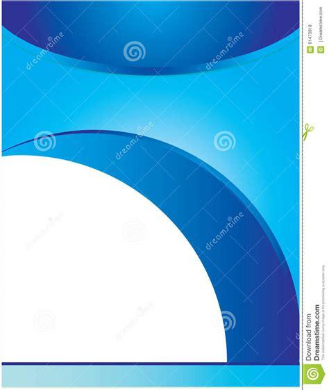 blue swirl letterhead background brochure template stock