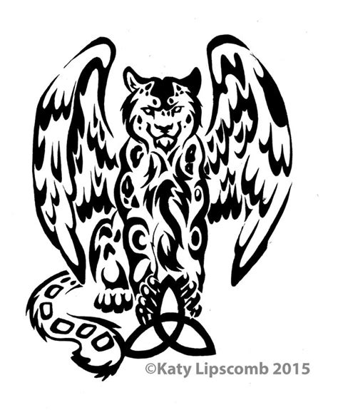 leopard tribal tattoo 12 tribal leopard w wings commission by lucky978 on