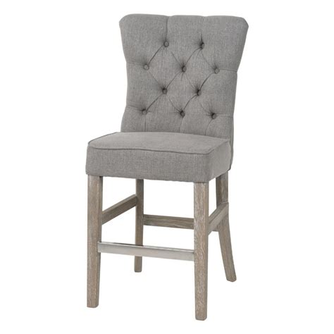 Grey And Wood Bar Stools by Furniture Gray Tufted Counter Height Bar Stools With Wood