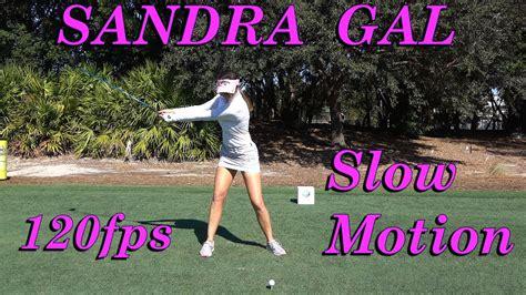 sandra gal golf swing sandra gal 120fps slow motion face on driver golf swing