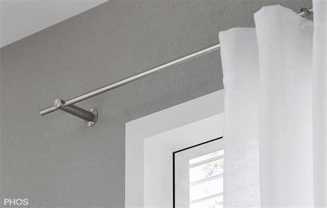 Gardinenstange Modern Style by Vorhangstange Aus Edelstahl Zur Wandbefestigung