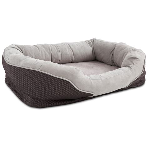 pet beds orthopedic peaceful nester gray dog bed petco