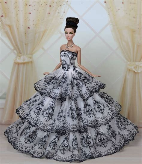Pretty Doll Dress fashion royalty princess dress clothes gown for