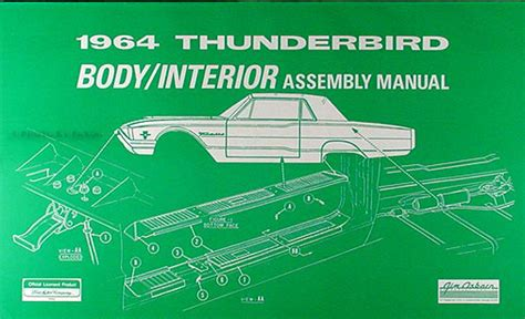 free service manuals online 1958 ford thunderbird interior lighting 1964 ford thunderbird cd rom repair shop manual and parts book t bird