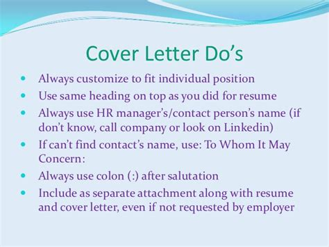 Cover Letter Exle If You Don T The Name Resumes And Cover Letters