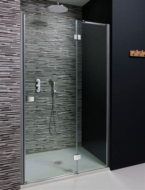 Hinged Shower Doors Uk Design Hinged Shower Door With Inline Panel In Frameless Luxury Bathrooms Uk Crosswater Holdings