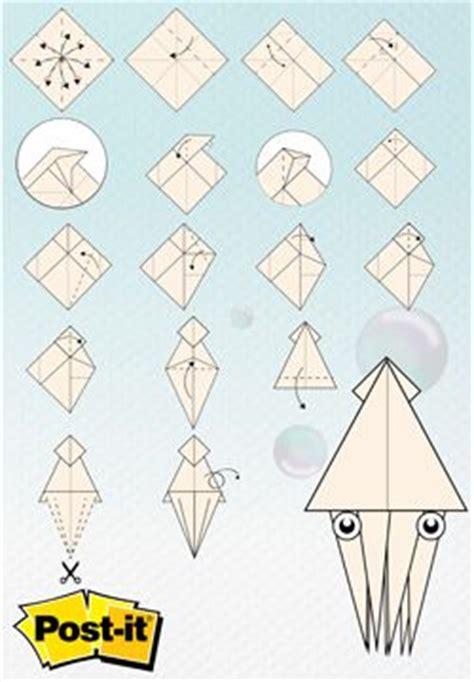 origami with post its origami con notas post it 174 calamar click a la imagen para