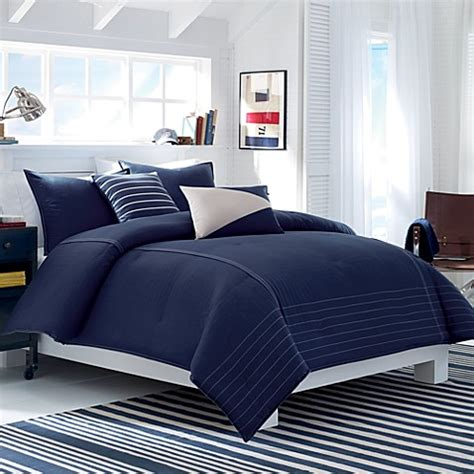 nautica crew comforter set in midnight blue bed bath