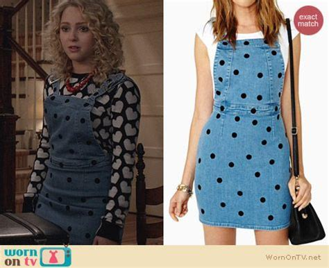 Carrie Denim Dress carrie s print sweater and denim polka dot overall