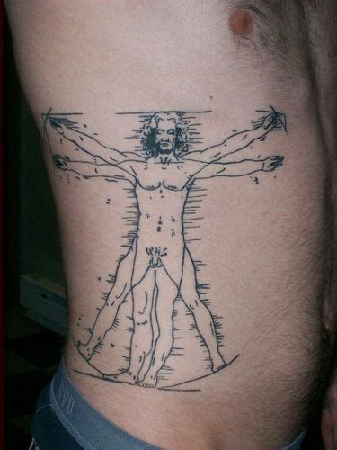 vitruvian man tattoo da vinci s vitruvian by mmtattoos via flickr