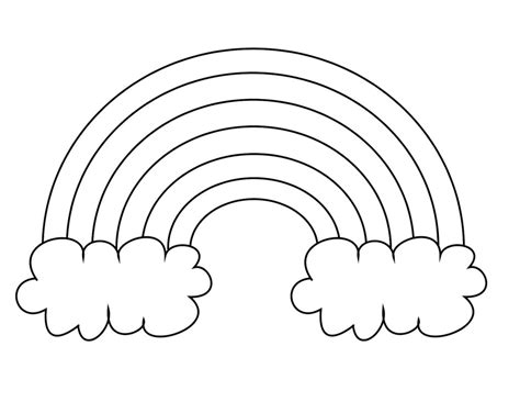 rainbow coloring page kindergarten preschool coloring page rainbow coloring pages for