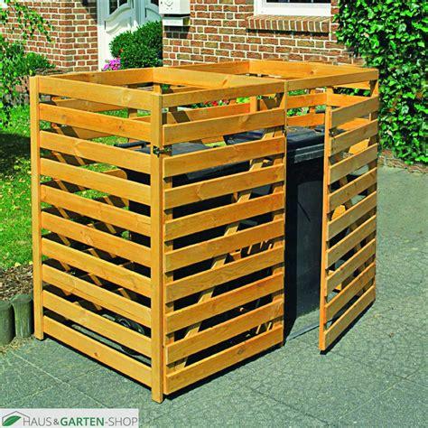 muelltonnenbox fuer  tonnen bis  liter aus kiefernholz
