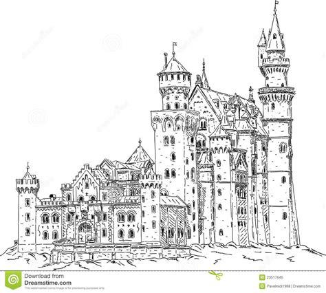 neuschwanstein castle coloring page neuschwanstein castle in germany royalty free stock photo