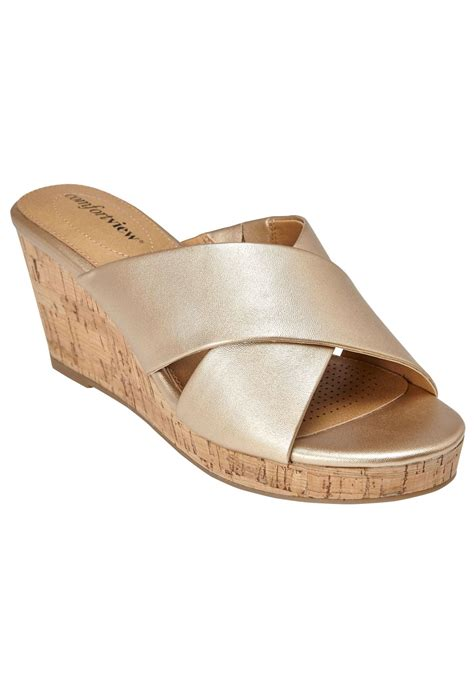 willow sandals by comfortview 174 plus size casual sandals within