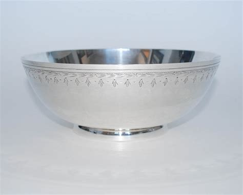 Silver Bowl L sterling silver fruit bowl frank whiting co vintage