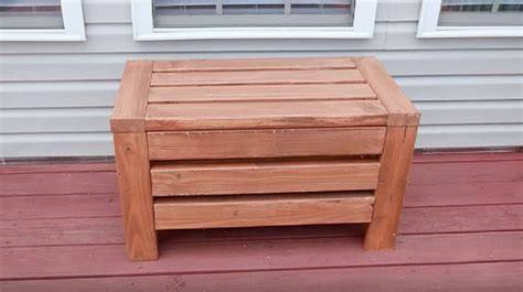 diy outdoor storage bench seat outdoor storage bench seat for the yard diy project