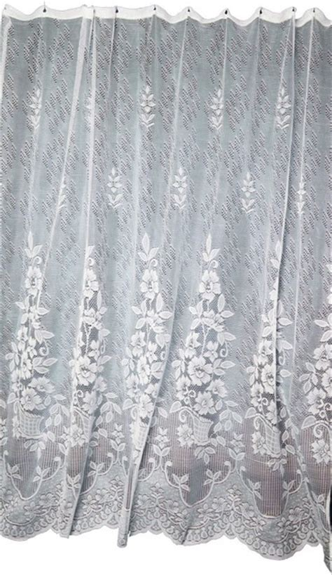 victorian shower curtains bathroom lace shower curtain victorian floral ecru polyester 72 x