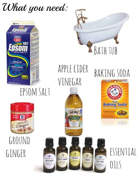 Detox Bath With Vinegar And by Detox Baths Detox And Detox On
