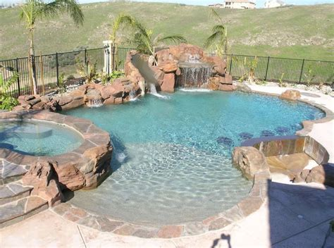 Backyard Pools With Slides Best 25 Swimming Pool Slides Ideas On