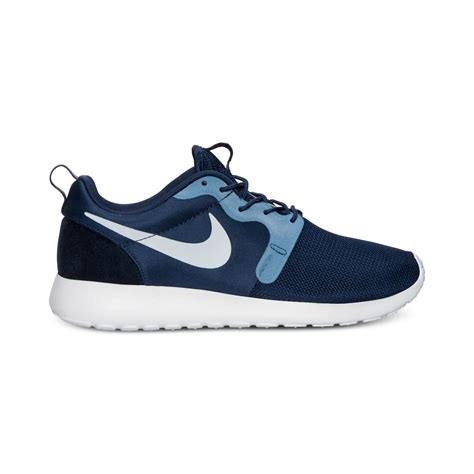 Nike Mid Sneakers Casual nike mens roshe run hyperfuse casual sneakers from finish