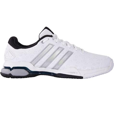 adidas barricade club s tennis shoe white silver