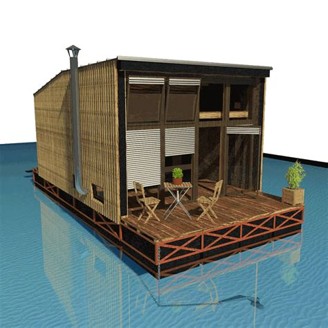 boat house construction floating house plans