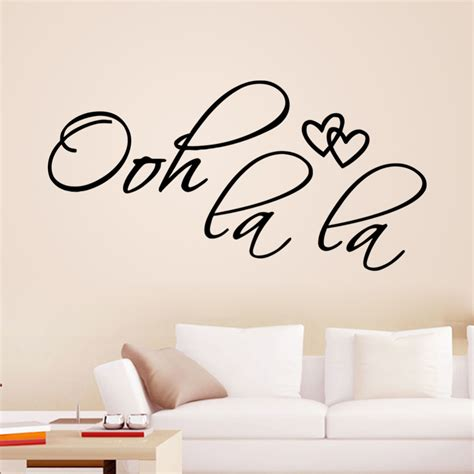 bedroom quote wall stickers ooh la la wall quotes 8418 removable vinyl wall