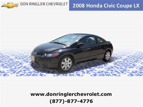 Best Deals Auto Killeen Tx Used 2008 Honda Civic Coupe Auto Lx At Temple
