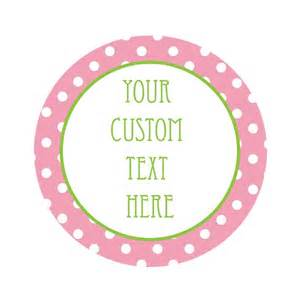 template for circle labels polka dot 1 5 quot circle stickers trendy custom labels