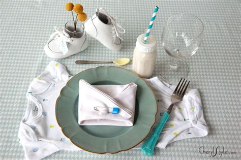 Baby Shower Place Setting Ideas by Home Made Is Easy Baby Shower Ideas For Placesettings