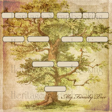 How To Make A Family Tree On Paper For - family tree papers heritagescrapbook