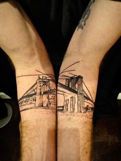 tattoo les nyc brooklynbridge tattoo inksmith pinterest