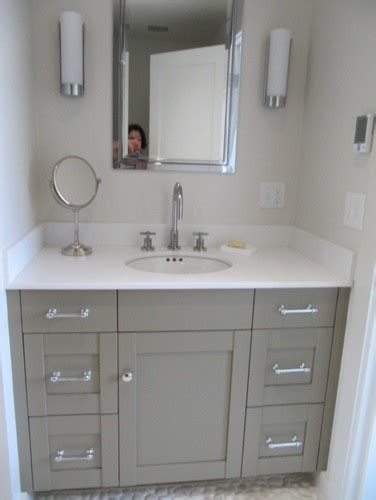 painted oak vanities bungalow home staging redesign