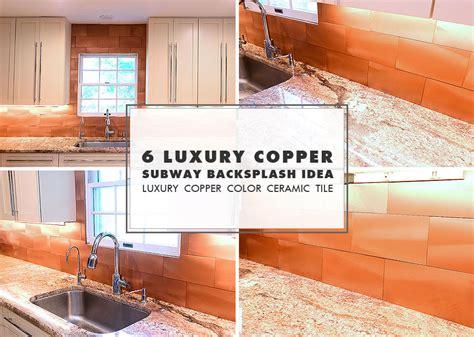 Kitchen Backsplash Ideas 2014 6 copper backsplash tile typhoon bordeaux granite