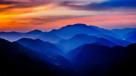 mountain sunset wallpapers widescreen epic wallpaperz