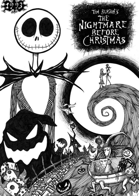 Coloring Pages Nightmare Before Christmas Coloring Page Tim Burton S Nightmare Before Coloring Pages