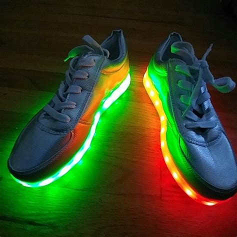 silver light up shoes 27 unbranded shoes unisex led light up silver