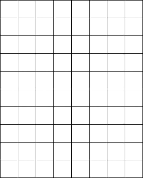 printable grid paper inch one inch graph paper 1 grid printable large grand pics