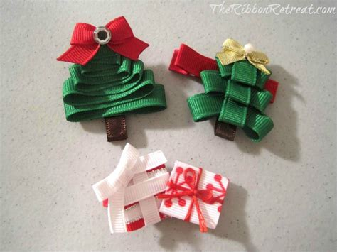 easy holiday hair bows the ribbon retreat blog
