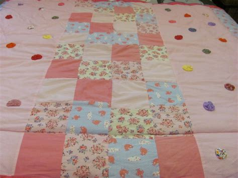 Bed Cover Patchwork - patchwork bed cover with yoyo flower applique apik